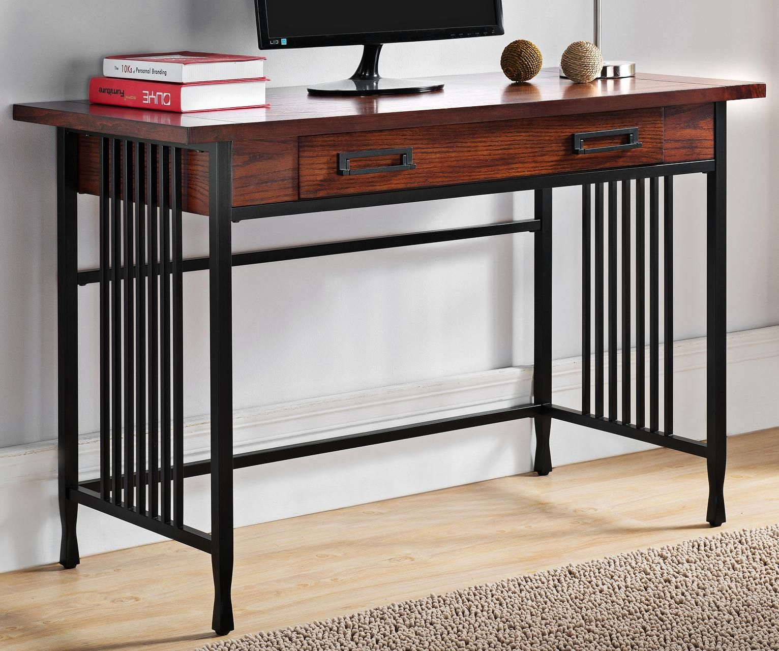 Tables Ironcraft 46 Wide Mission Oak Computer Writing Desk Wood Writing Desk Mission Oak Home