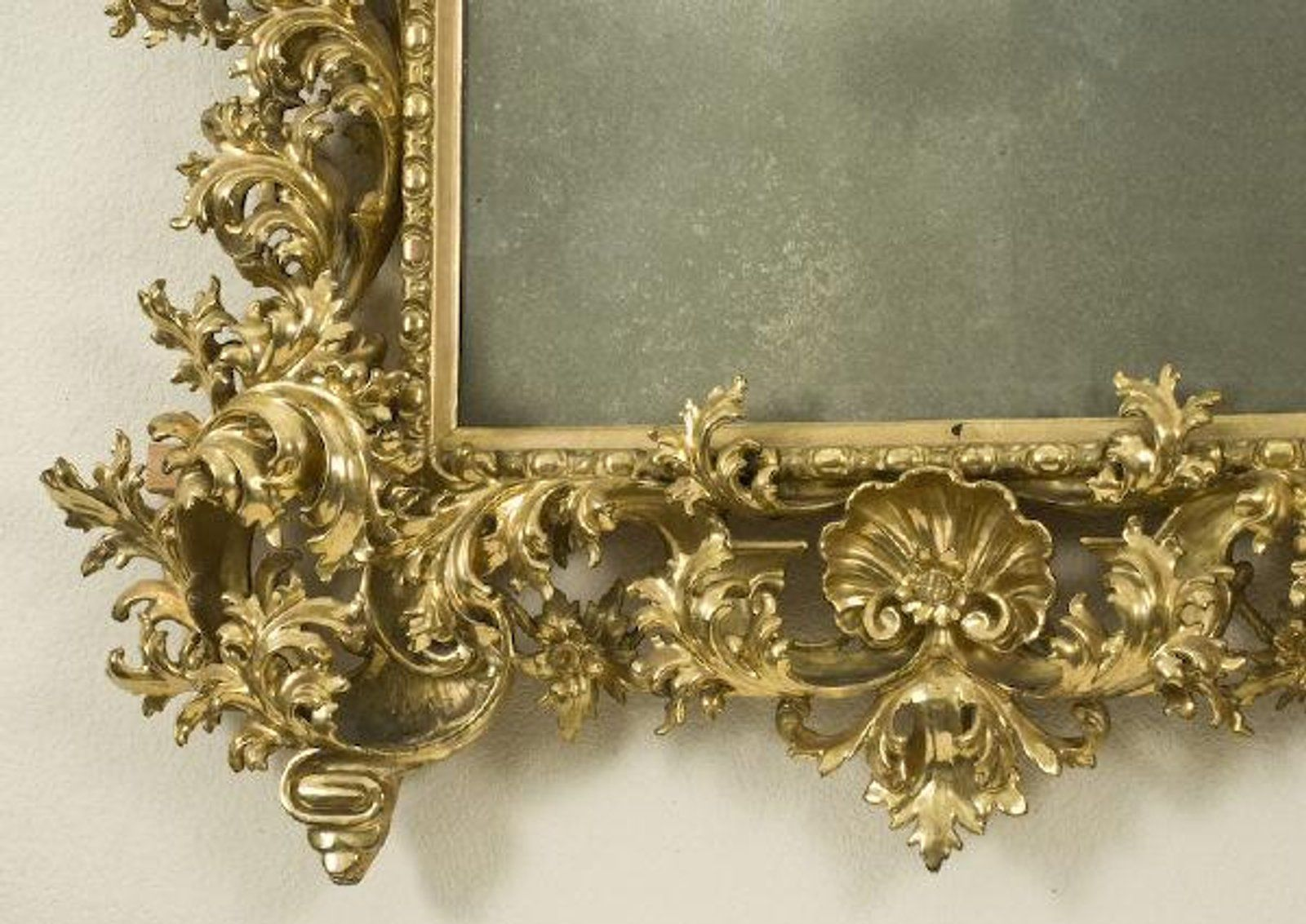 Lot: 119: Large Italian Rococo gilt mirror,, Lot Number: 0119 ...