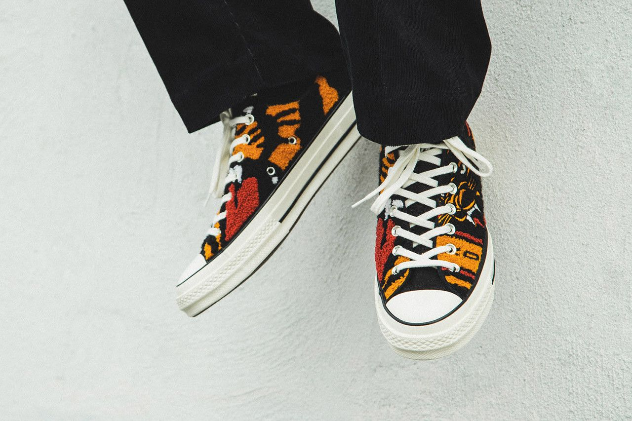 d9800be9a1433 Undefeated x Converse Chuck 70 OX On-Foot Look First Closer Look HBX Collab  Collaboration