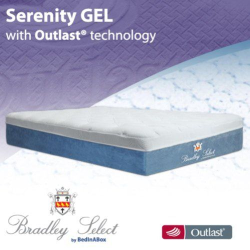 Bedinabox Serenity Gel Memory Foam Bed Mattress Cal King With
