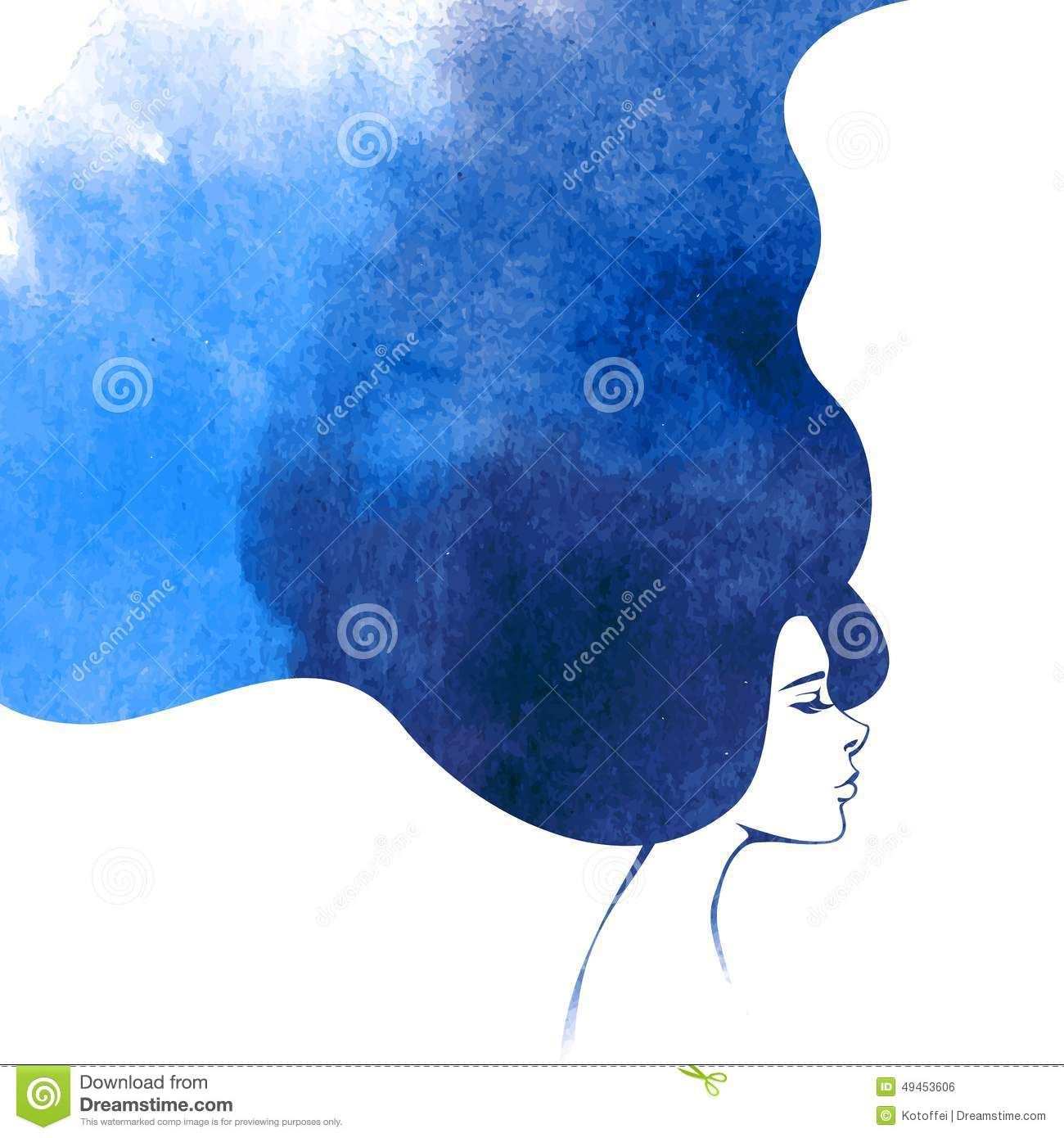 Image Result For Watercolor Art Of Hair Turning Into Clouds