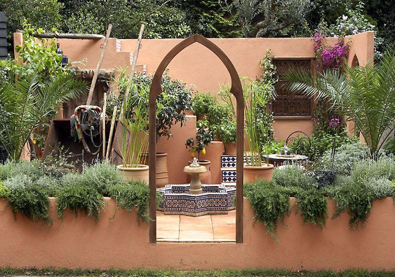 Garden design   Moroccan garden, Garden design, Garden