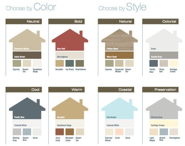 Awesome vinyl siding color ideas coloration pinterest for Exterior house color palette ideas