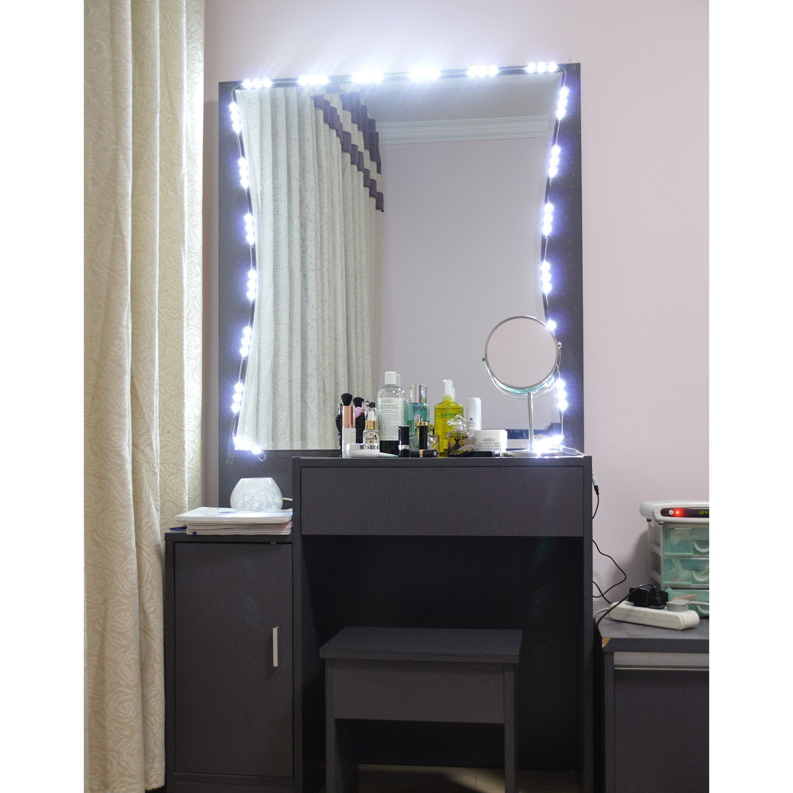 white lighting jerdon mirror dp with mirrors personal magnification amazon makeup beauty lighted finish com