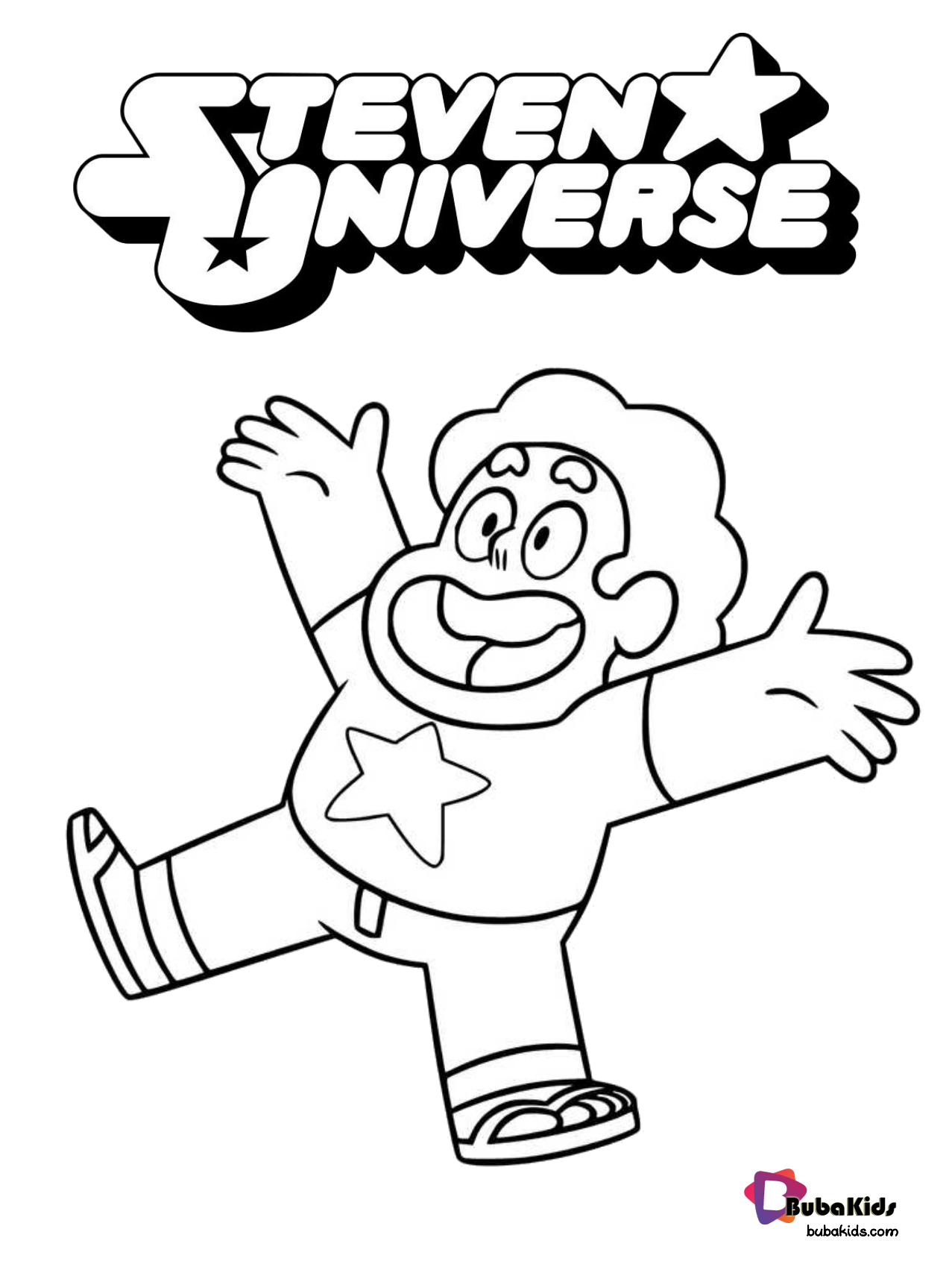 Steven Universe coloring page. Collection of cartoon coloring