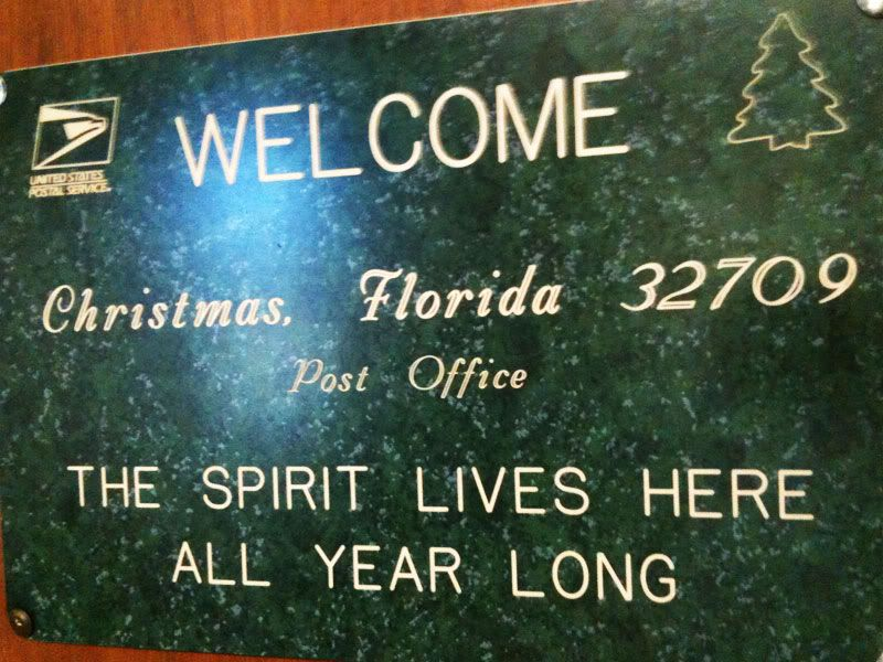 Christmas, Florida. Have you got your official Town of Christmas ...