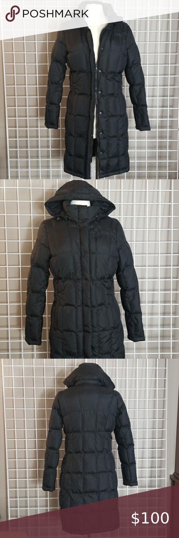 Womens Long North Face Coat W Detatchable Hood M North Face Long Coat North Face Coat North Face Jacket [ 1740 x 580 Pixel ]