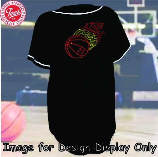 """""""Fiery Basketball"""" Rhinestone Jersey"""