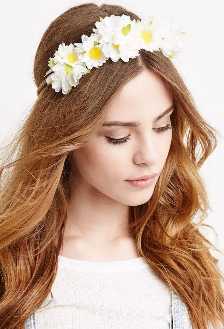 Daisy Flower Crown Fashion Pinterest Flower Crowns And Crown