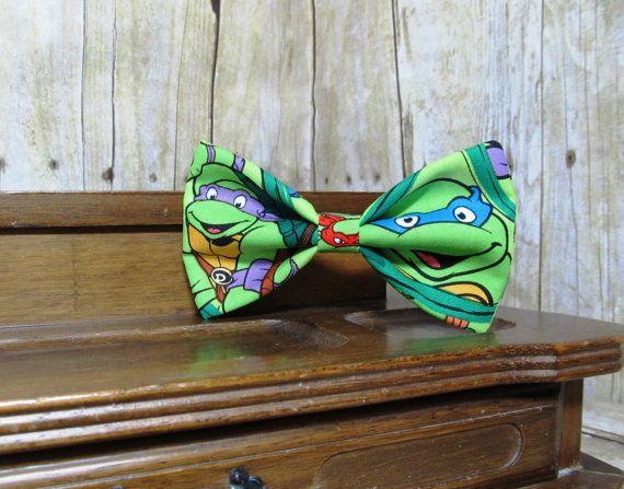 Teenage Mutant Ninja Turtles Bow Tie, Clip, Headband or Pet on Etsy, $8.70 AUD