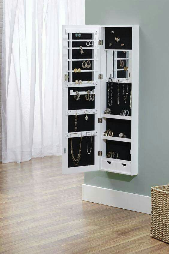 Turn My Standing Mirror/jewellery Case Into A Wall Mounted One Like This.