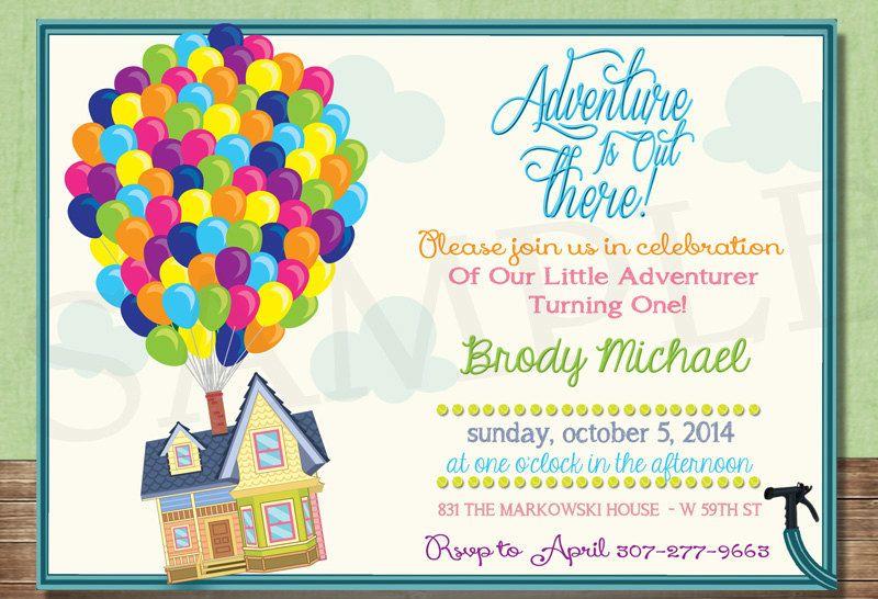UP House Birthday Invitation Inspired By Disney Pixar Movie