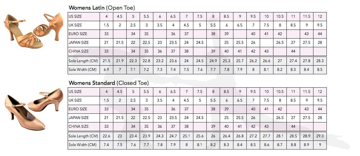 Us Shoe Size Chart Measurements Shoe Size Chart Shoe Size Chart