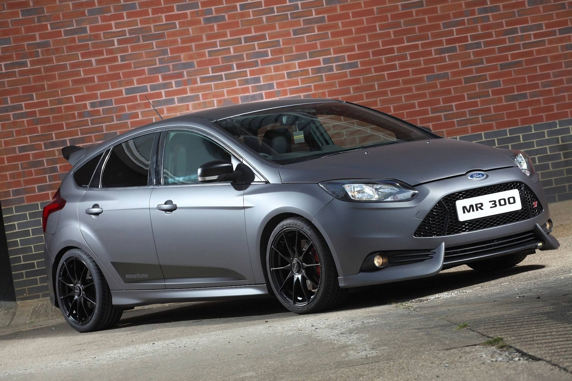 Matte Black Ford Focus St Mr300 By Mountune Ford Focus Ford Focus St Ford Focus Rs