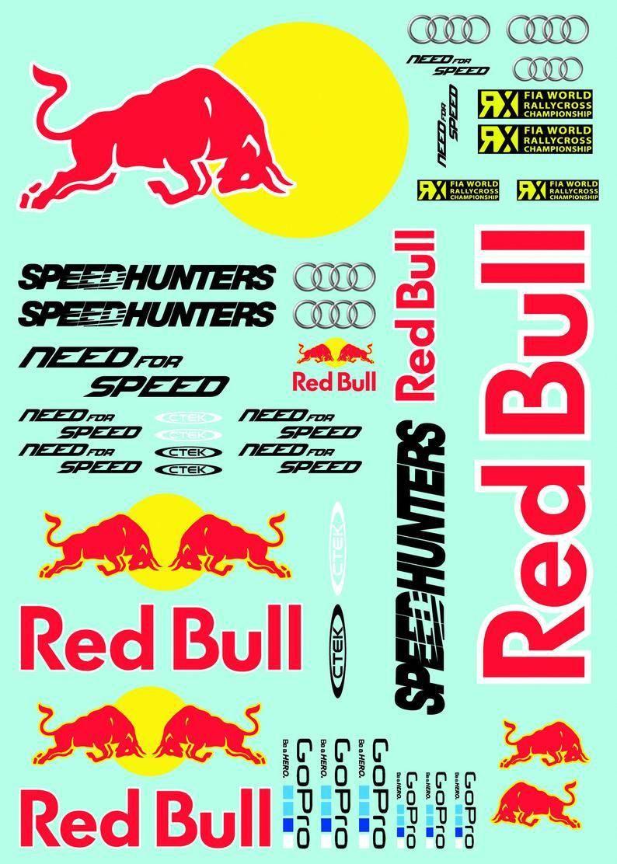 Red Bull Racing Rc Car Vinyl Sticker Sheet 7x5inches Etsy Vinyl Sticker Sheets Red Bull Red Bull Racing
