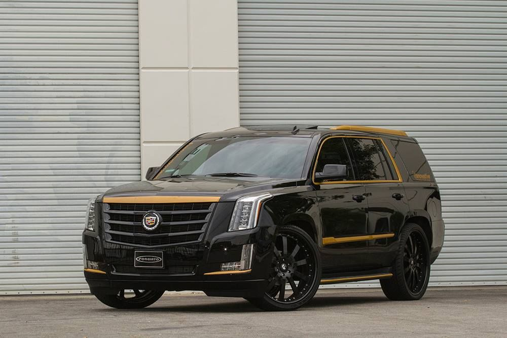 Black and Bronze 2015 Cadillac Escalade on Forgiato Wheels | Cars