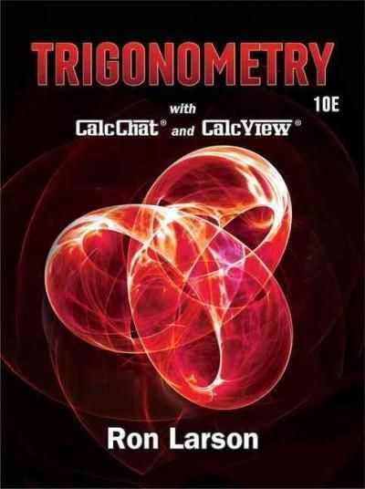 Trigonometry With Calcchat And Calcview Products