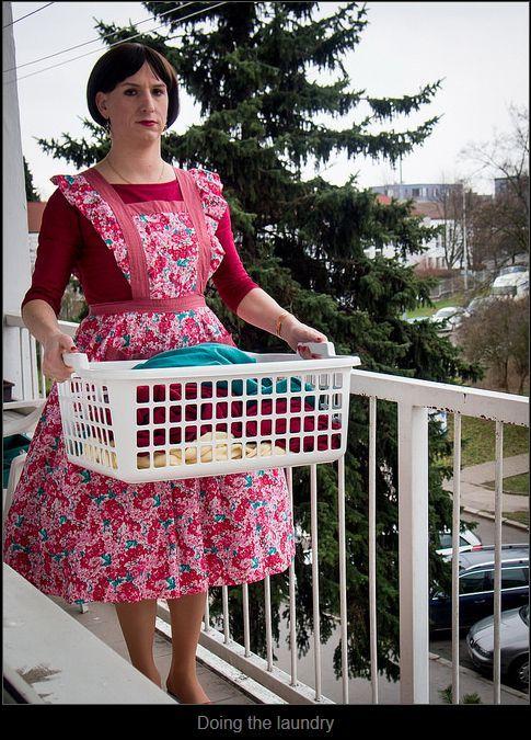 feminized hubby doing the laundry sissy husbands pinterest rh pinterest com Making Your Husband Feminine Husband First Time