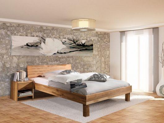 CARINA Massivholzbett mit geschlossenem Kopfteil - schlafzimmer sofort lieferbar