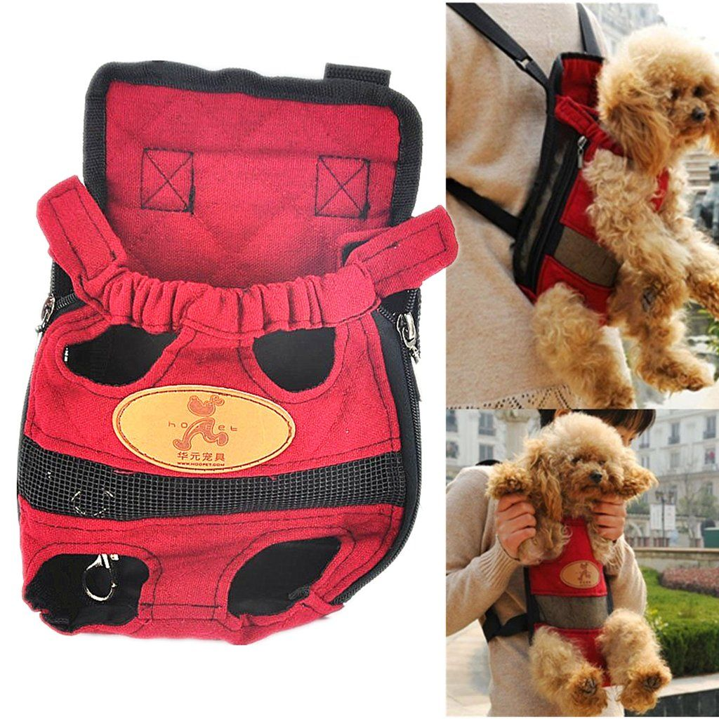 Dog Cat Bag Canvas Front Back Carrier Backpack Shoulder Pouch Bag