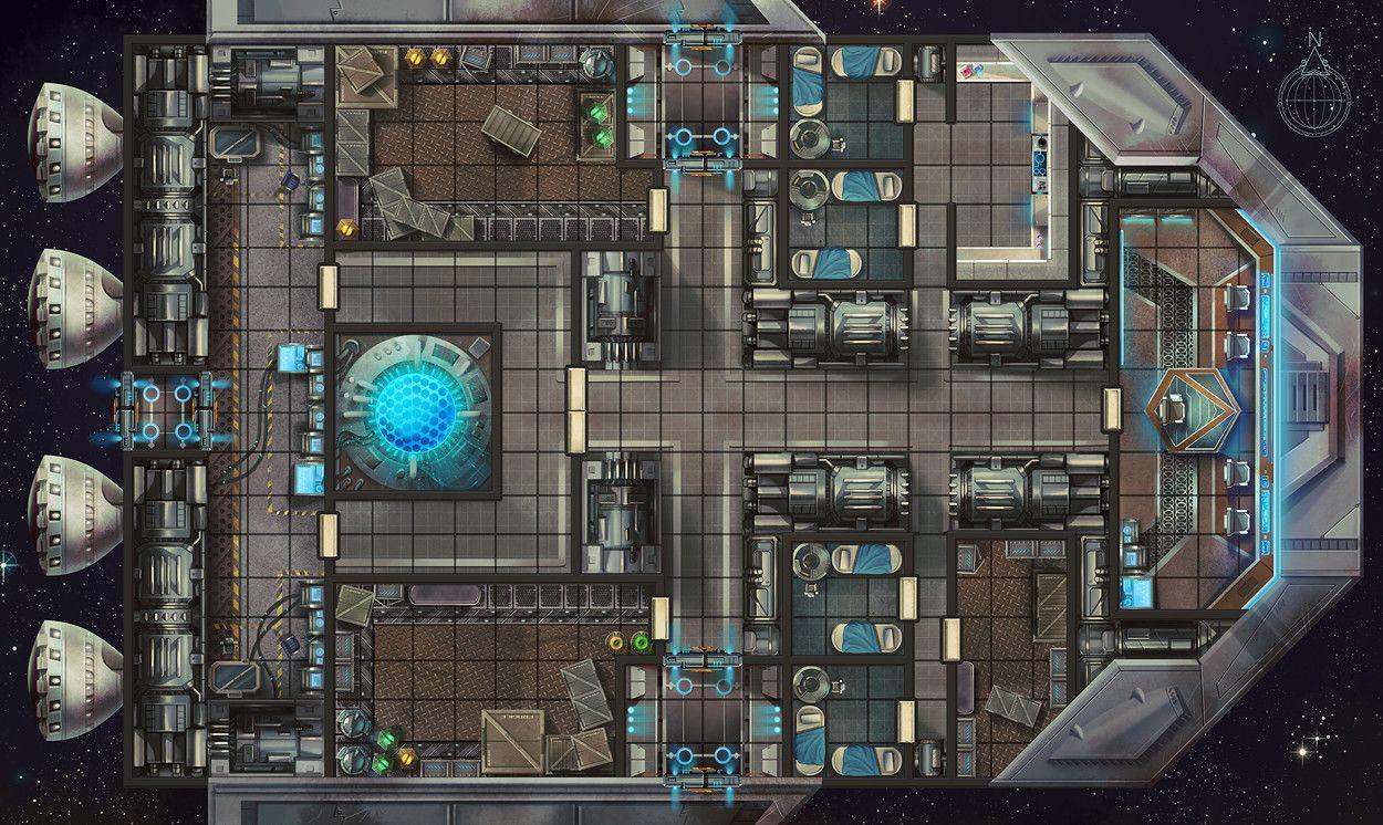 Artstation Starfinder Rpg Maps Damien Mammoliti
