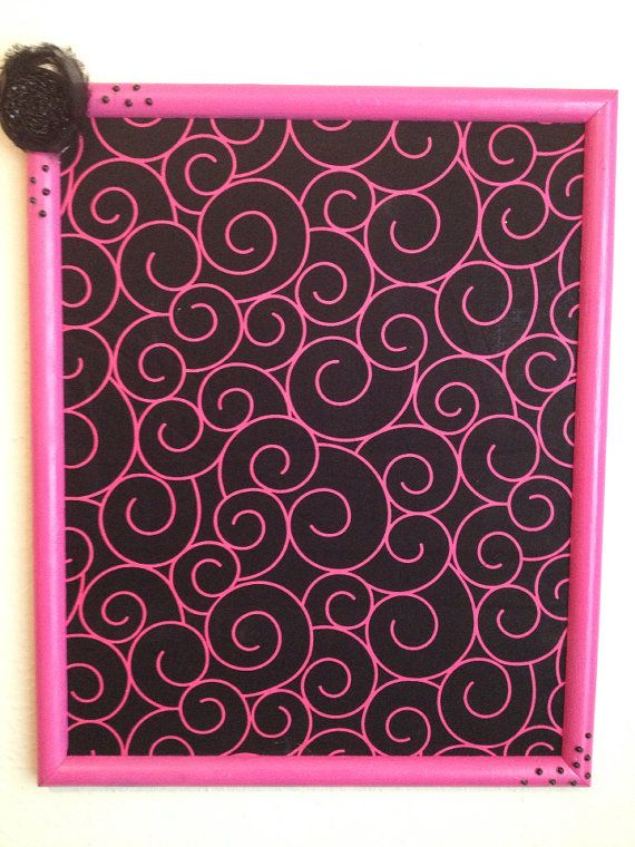 Hot Pink and Black Swirl/Hot Pink Upcycled by MagneticMakeUPs, $70.00