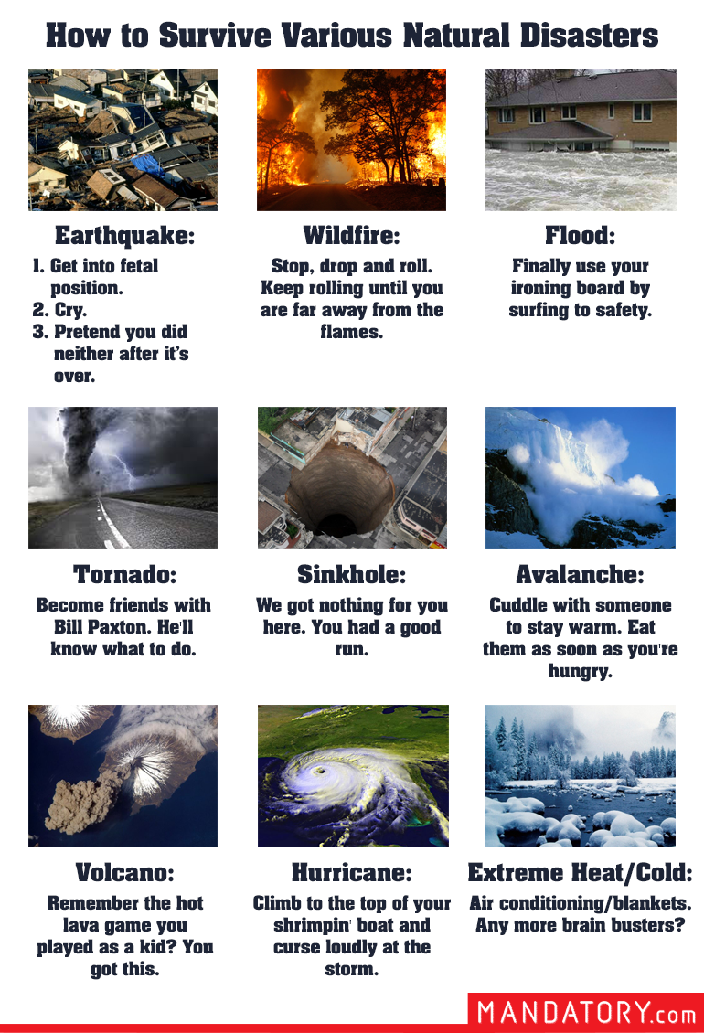 9f91cfc9cc8 natural disaster survival guide, how to survive natural disasters ...
