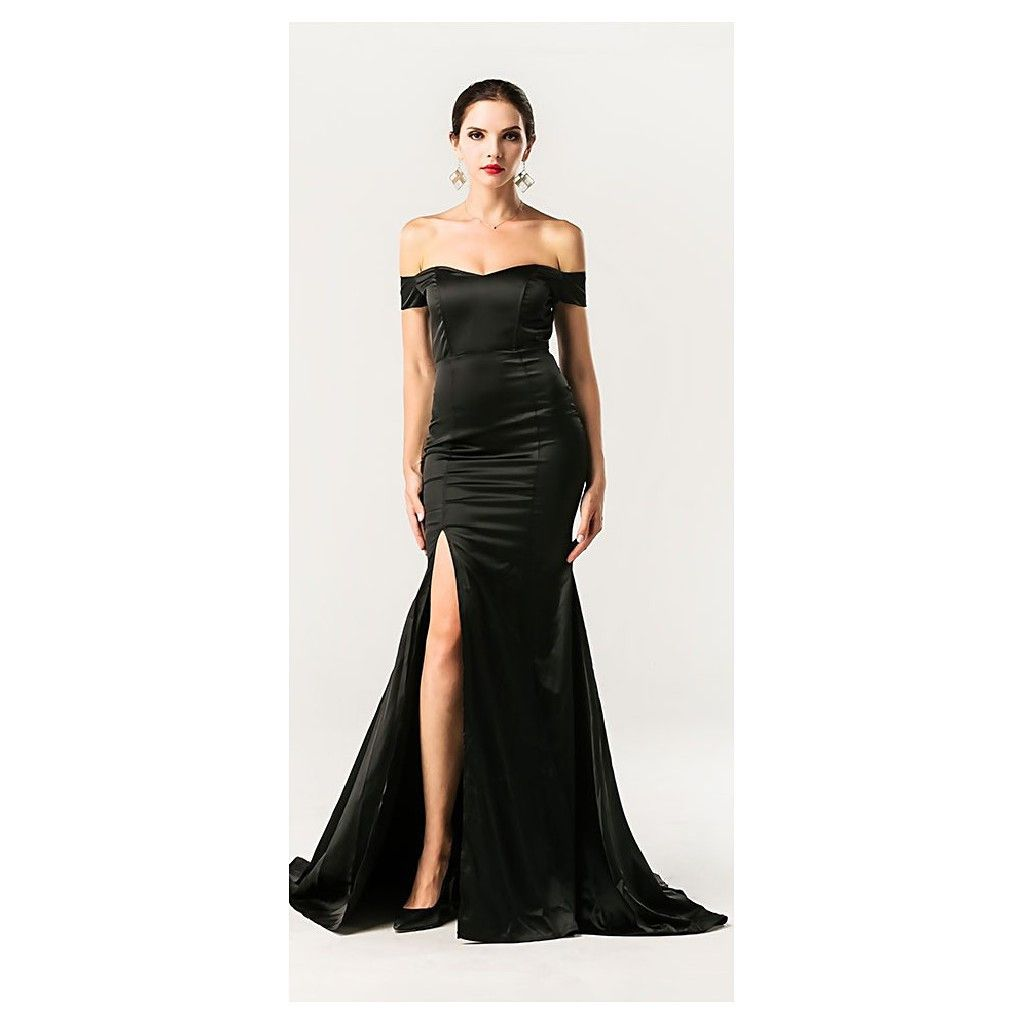 Evelyn belluci black off shoulder cocktailformal gown products