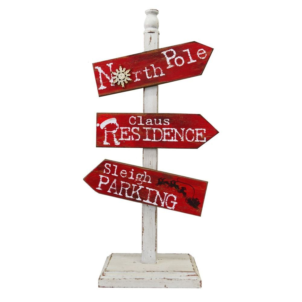 Christmas wooden christmas memories hanging sign sold out - Signs At The North Pole North Pole Sign Post Wooden Christmas