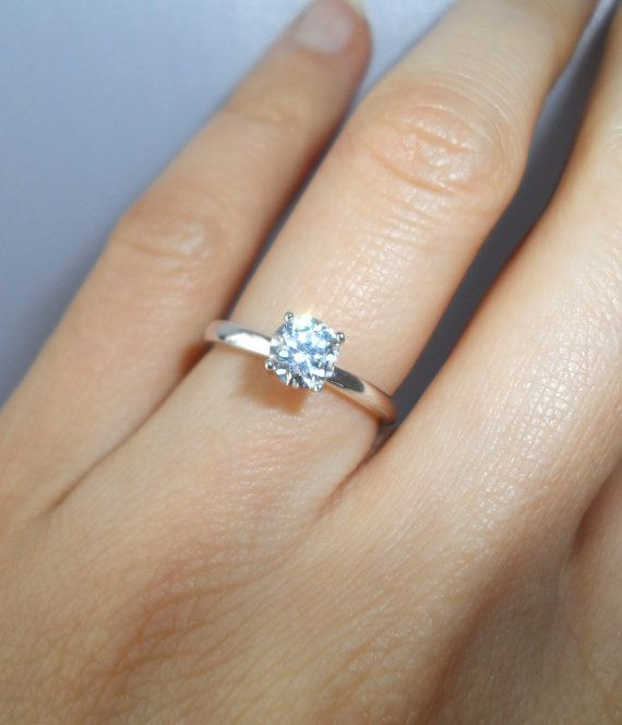1 2 Carat Diamond Anniversary Engagement 4 Prong By Tigergemstones 39 99 Handmade Engagement Rings Round Solitaire Engagement Ring Wedding Rings Solitaire