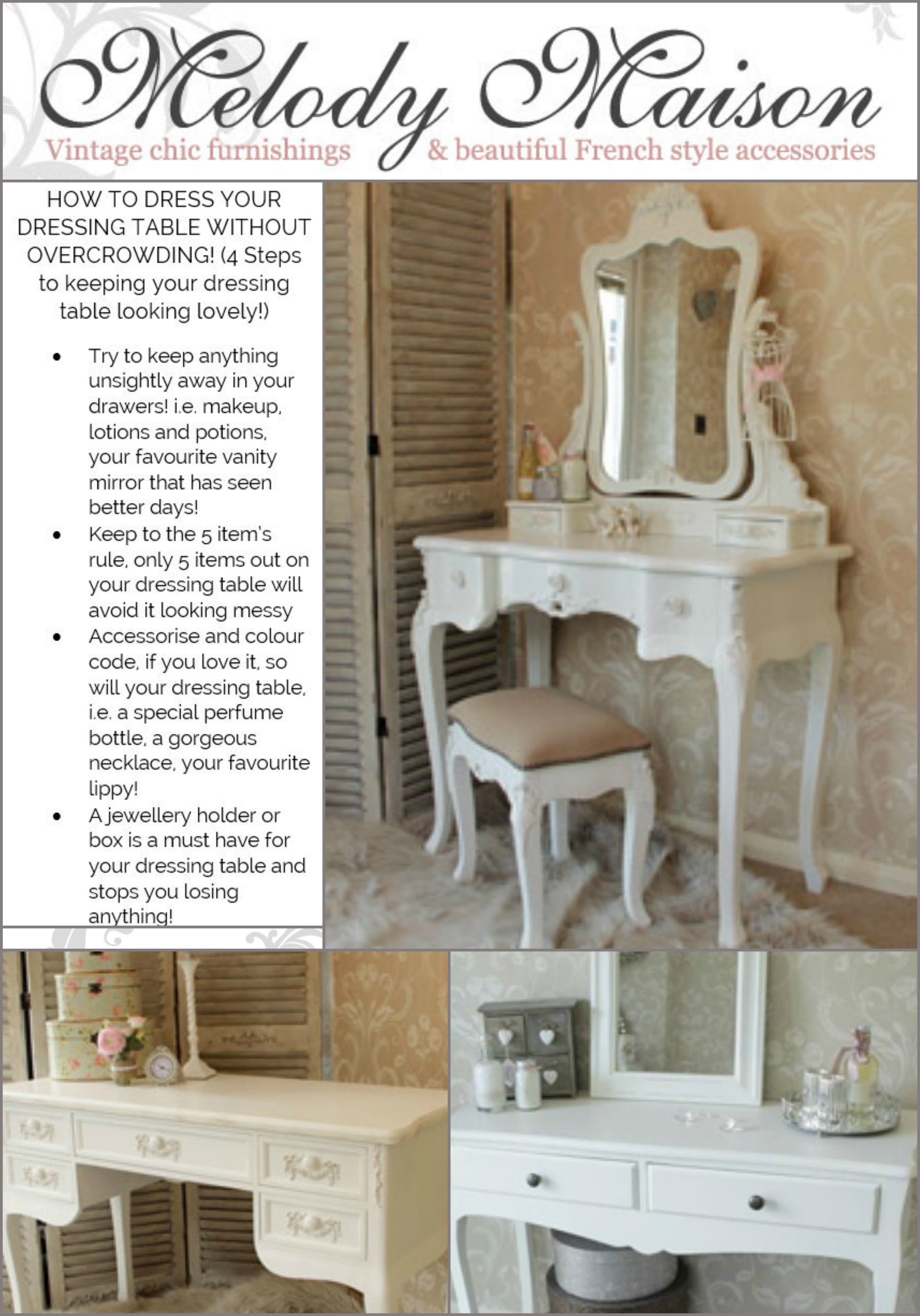 TOP TIP from www.melodymaison.co.uk See our beautiful dressing ...