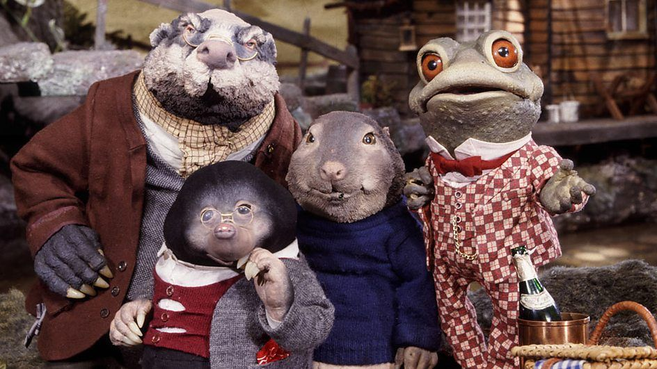 Toad, Badger, Mole and Ratty from Cosgrove Hall's stop frame ...
