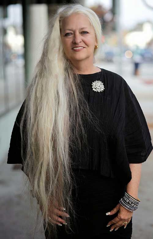 Older Women With Long Hair Long Hairstyles 2015 Long