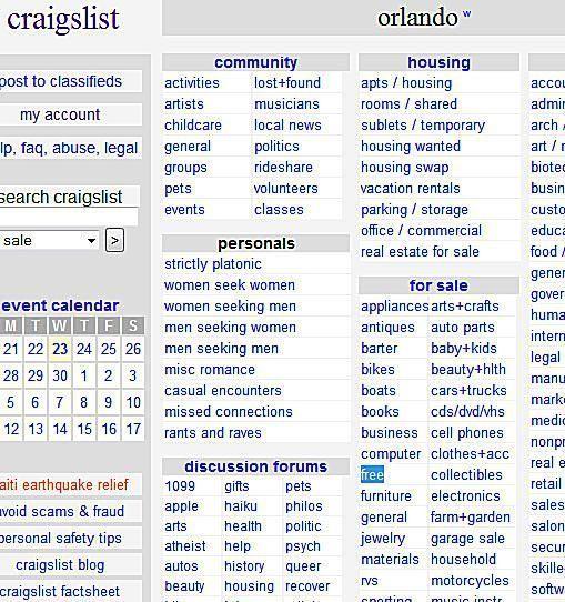 How To Find Loads Of Free Stuff On Craigslist Craigslist Job