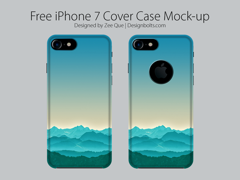 Free Apple Iphone 7 Cover Case Mock Up Psd Iphone 7 Cover Case Iphone 7 Covers Case