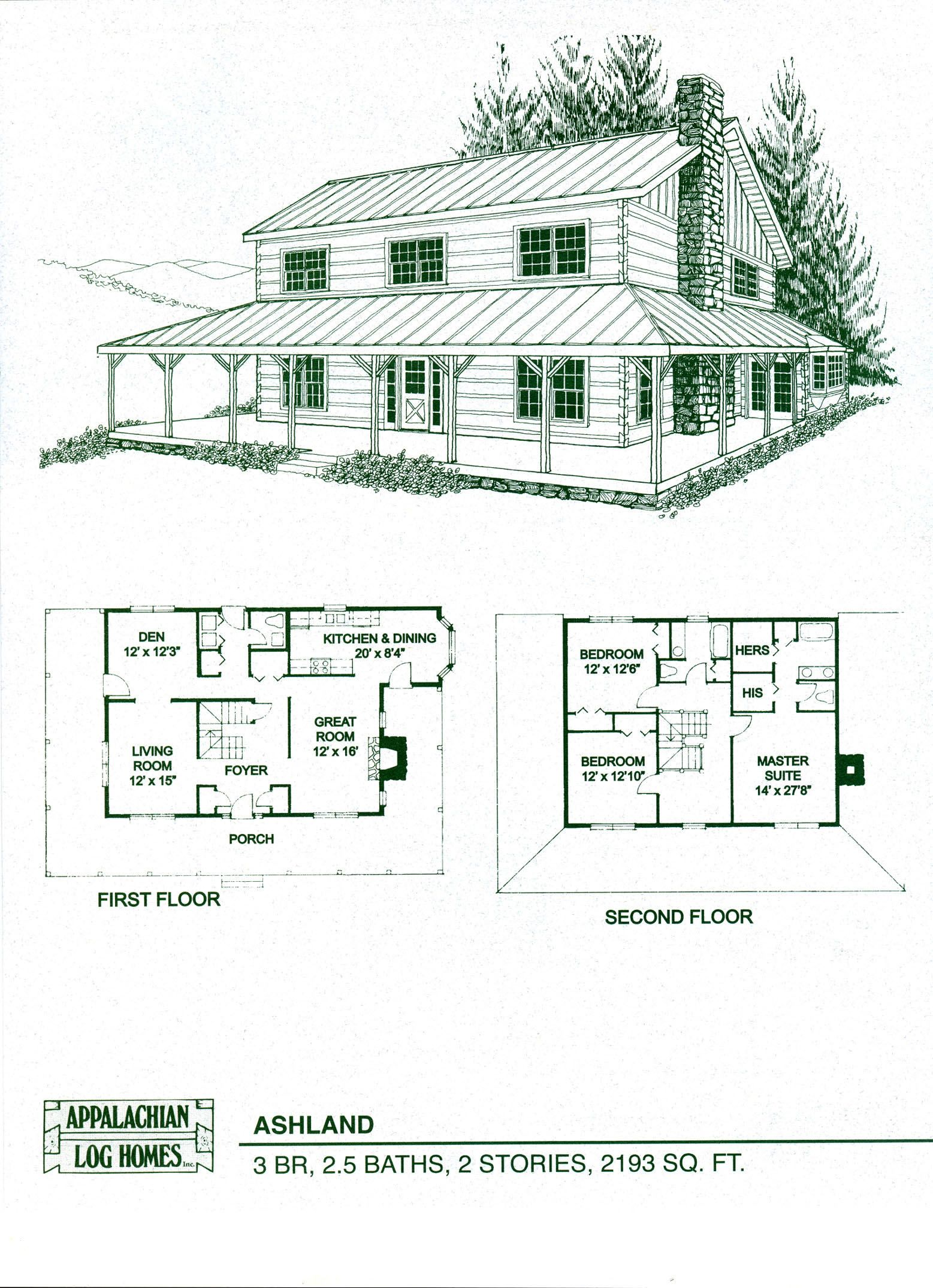 Log Home Floor Plans - Log Cabin Kits - Appalachian Log Homes | Home ...