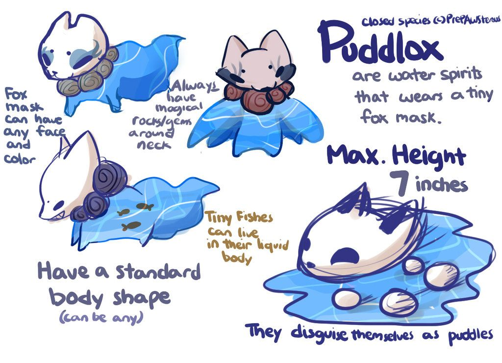 :Puddlox(Fox Pond Subspecies) Guide: by PrePAWSterous