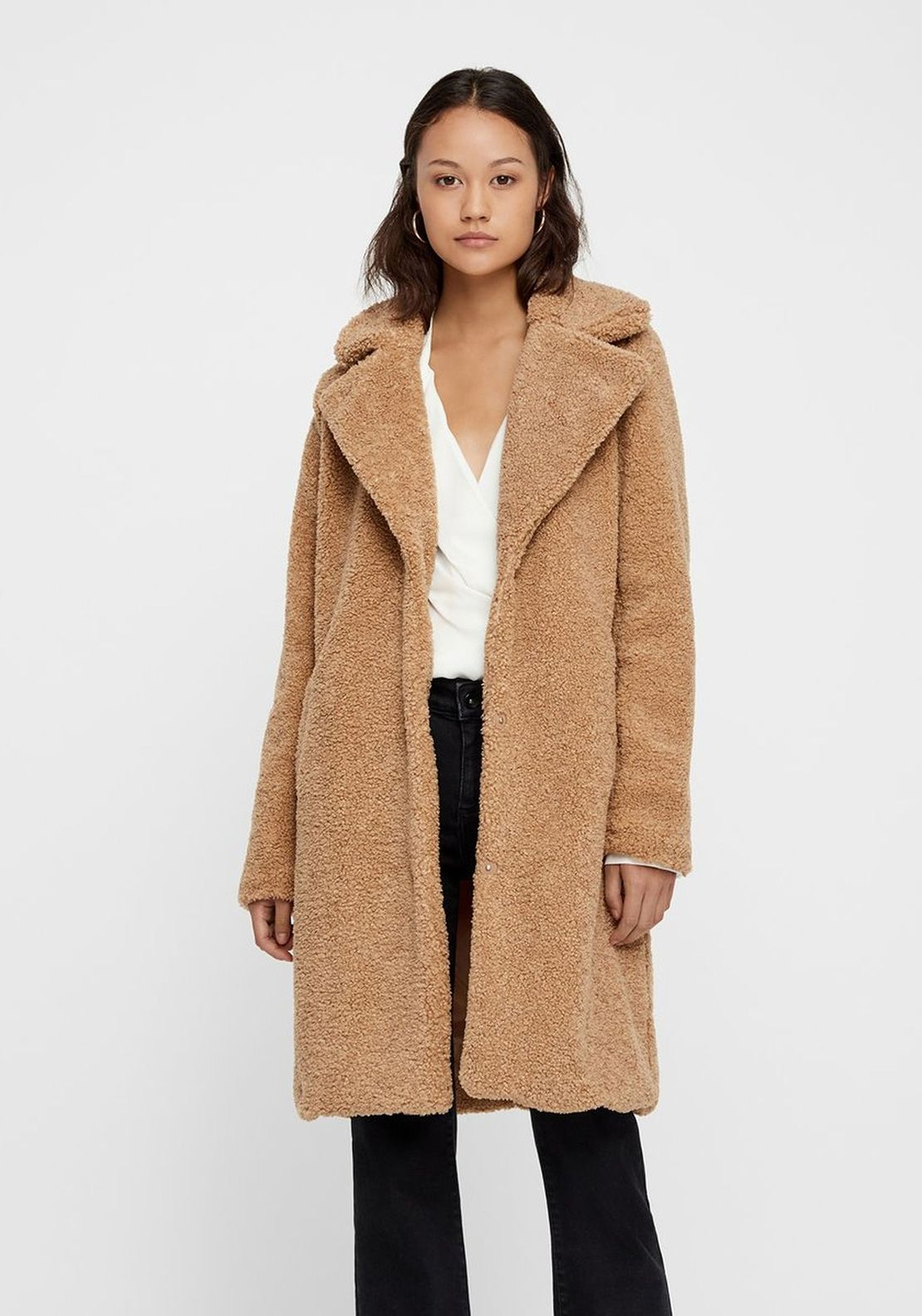 994a3532f6 Vero Moda Faux Fur Teddy Coat, Tan | Eliza (current clothes) | Coat ...