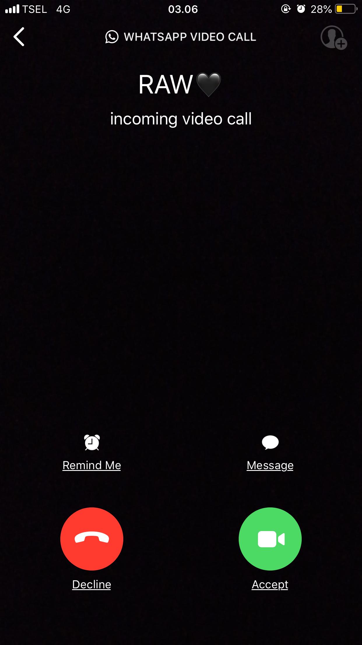 Video chat whatsapp lucu
