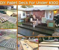 DIY Pallet Deck For Under $300