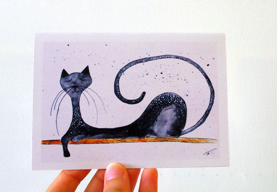 Happy Anniversary Cat Card Funny Birthday Card For Him Greeting