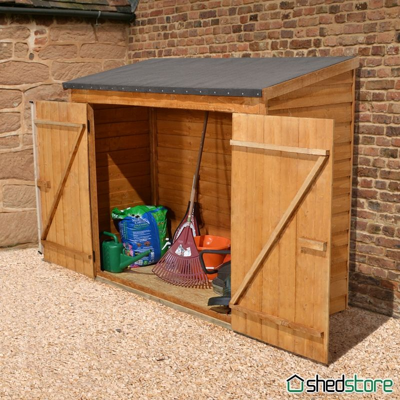 6 x 3 overlap maxi wall storage shed store plus