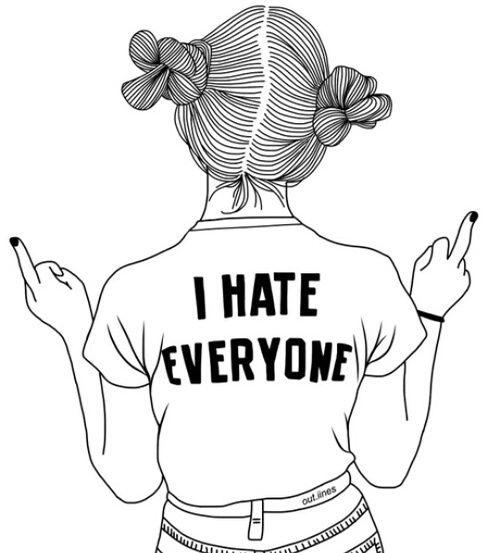 Imagen De Outline Drawing And Tumblr Zeichnungen Fur Madchen Ich Hasse Dich Umrisszeichnungen