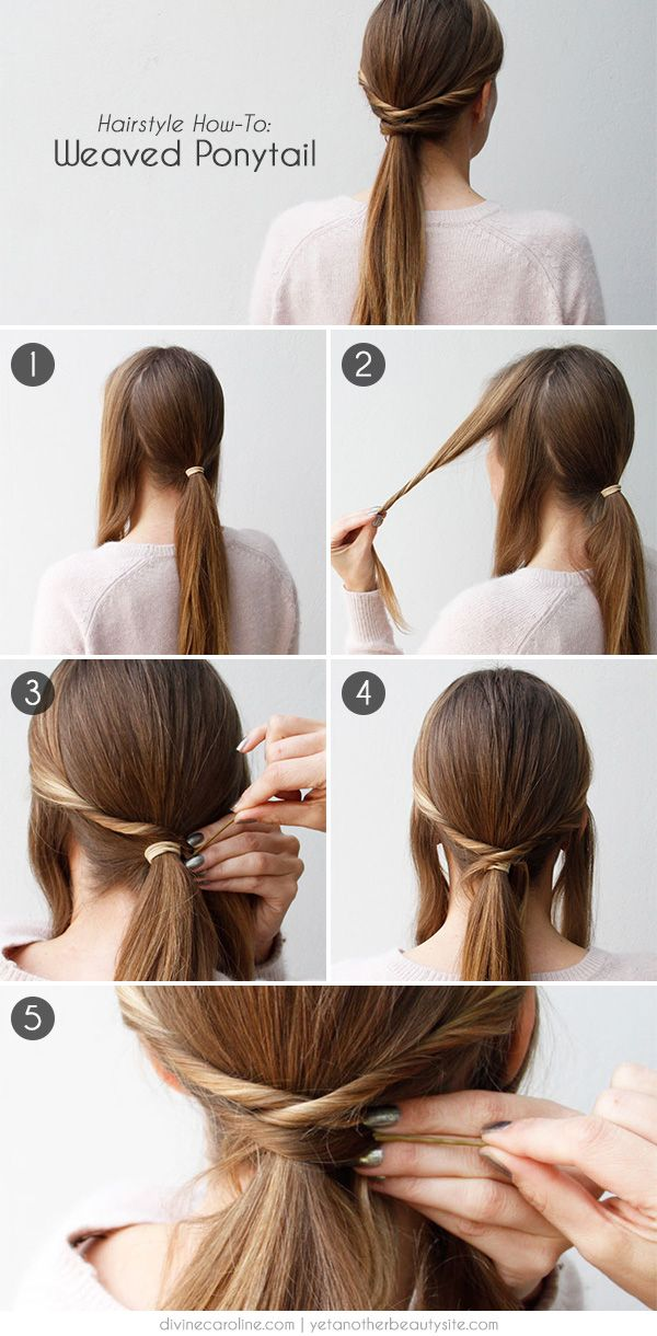 My Pretty Ponytail Try This Quick Easy Twist On Tradition More Pretty Ponytails Hair Styles 5 Minute Hairstyles