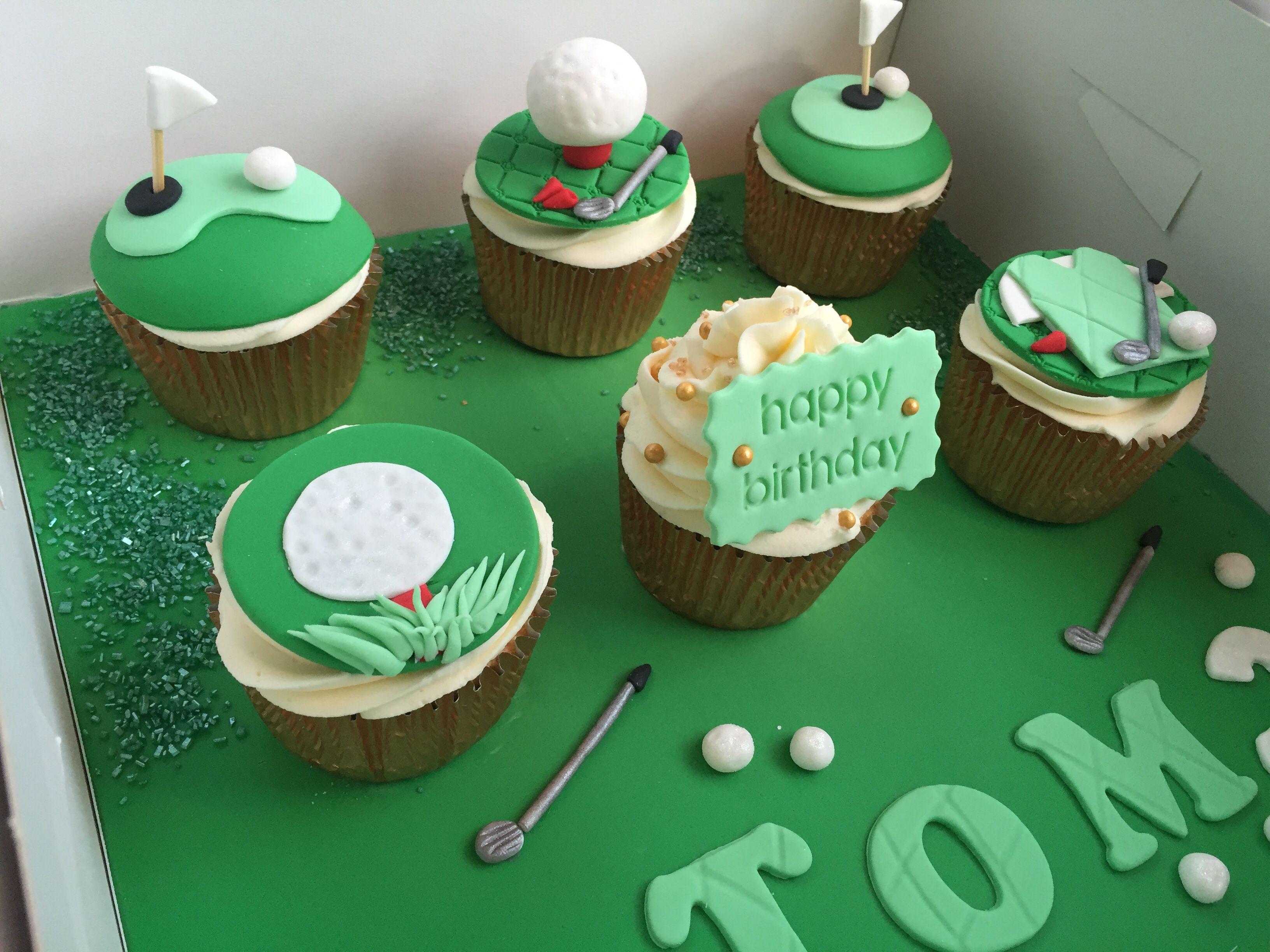 Golf cupcakes | Tasty chocolate cake, Chocolate sponge ...