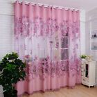 100X250CM Curtain Hollow Peony Finished Transparent Window Screens Curtain #Wind #balconycurtains