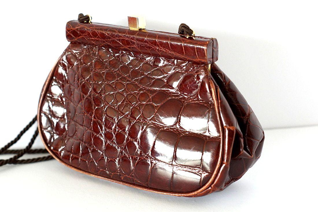 6d37a68c6d97 Buy VINTAGE Prada Crocodile Clutch Shoulder Cross Body Handbag ...