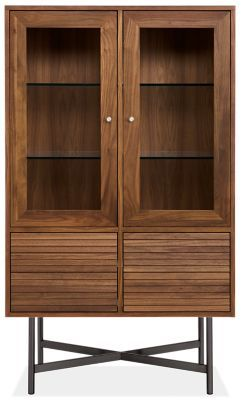 Modest Storage Cabinet With Glass Doors Creative