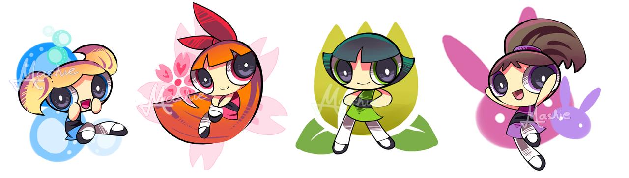 THE POWERPUFF GIRLS YOUTH SHIRT GIRLS BLOSSOM BUBBLES BUTTERCUP CARTOON RAINBOW
