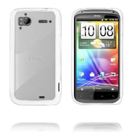 Läpikuultava Tausta (Valkoinen) HTC Sensation Silikonisuojus